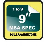"9"" Race Numbers MSA SPEC"